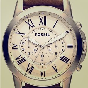 Fossil Men's Watch Grant Stainless Steel & Leather